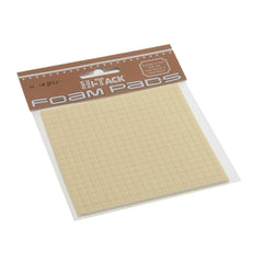 Hi Tack 3mm Foam Pads 5 x 5mm Square - White - Hobby & Crafts