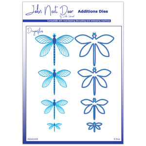 8 x Crafts Too Assorted Size Dragonflies Additions Dies Embossing Stencils Craft - Hobby & Crafts