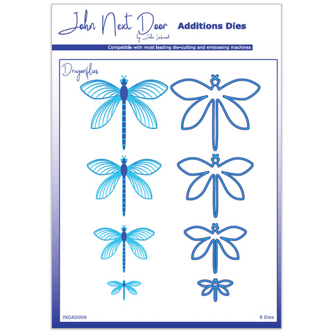 8 x Crafts Too Assorted Size Dragonflies Additions Dies Embossing Stencils Craft