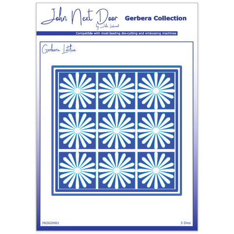 3 x Crafts Too Assorted Size Lattice Gerbera Dies Embossing Stencils Paper Craft - Hobby & Crafts