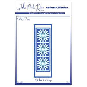3 x Crafts Too Assorted Sizes Panel Gerbera Collection Dies Embossing Stencils