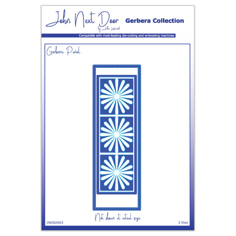 3 x Crafts Too Assorted Sizes Panel Gerbera Collection Dies Embossing Stencils - Hobby & Crafts