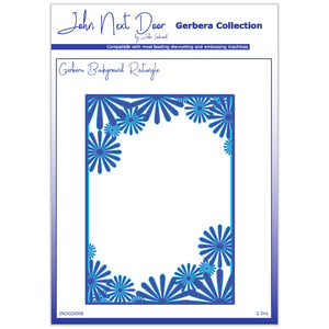 Crafts Too Rectangle Background Gerbera Collection Dies Embossing Stencils Craft