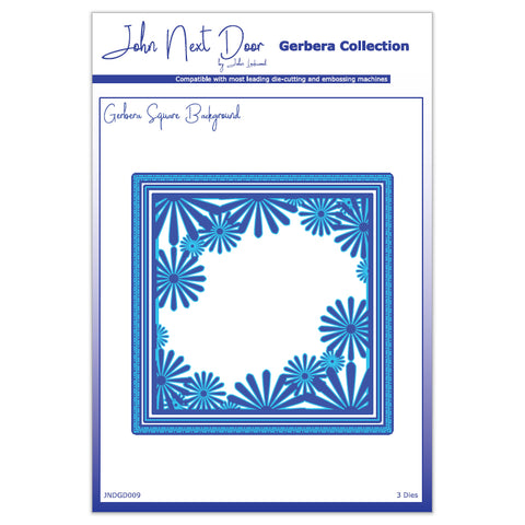 3 x Crafts Too Square Background Gerbera Collection Die Embossing Stencils Craft - Hobby & Crafts