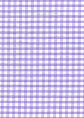"Lilac Gingham Polycotton 1/4"" Checked Fabric Select Size 112cm Wide"