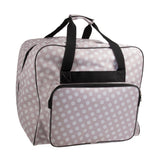 HobbyGift XL Grey Spots Overlockers Bag Sewing Machine Storage - Hobby & Crafts