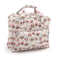 Hoot Printed Groves Matt PVC Sewing Machine Storage Bag With Zip Up Front Pocket - Hobby & Crafts