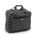Charcoal Polka Dot Value Matt PVC Sewing Machine Storage Bag Zip Up Front Pocket - Hobby & Crafts