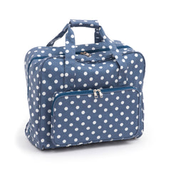 Denim Polka Dot Value Matt PVC Sewing Machine Storage Bag Zip Up Front Pocket - Hobby & Crafts