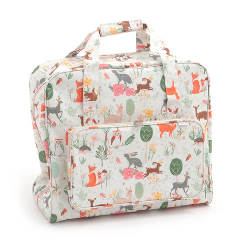 Woodland Groves Matt PVC Sewing Machine Storage Bag With Zipup Front Pocket 43cm - Hobby & Crafts