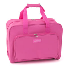 Pink Sewing Machine Storage Bag With Handle Zip Up Front Pocket Back Strap