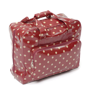 Sewing Machine Storage Bag Zipped All Round Opening PVC - Burgundy