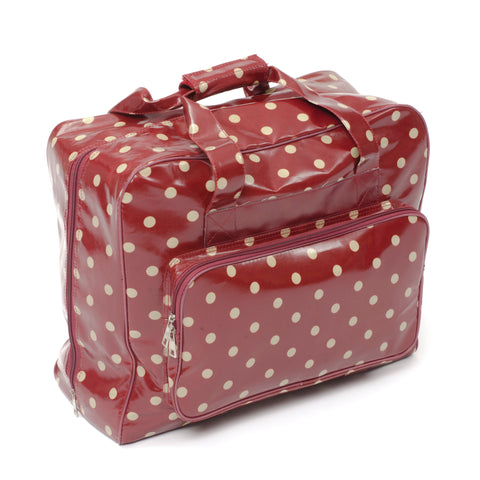 Sewing Machine Storage Bag Zipped All Round Opening PVC - Burgundy - Hobby & Crafts