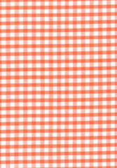 "Orange Gingham Polycotton 1/4"" Checked Fabric Select Size 112cm Wide"