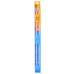 Pony Knitting Needles Single Ended Anodized Solid Aluminium Pins 30 cm x 5.00 mm - Hobby & Crafts