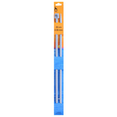 Pony Knitting Needles Single Ended ABS Plastic Pins 30 cm x 6.50 mm - Hobby & Crafts