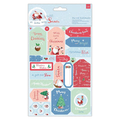 2 x Papermania At Home With Santa Die-Cut Sentiments With Toppers Sheets Crafts