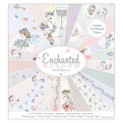 50 x Papermania Enchanted Meadow 30.5cm /12 Inch Paper Pad 25 Fairy Unicorn Scrapbooking Crafts