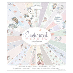 50 x Papermania Enchanted Meadow 15 cm / 6Inch Paper Pad Unicorn Fairy 25 Design Scrapbooking Crafts
