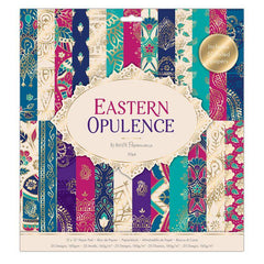 50 x Papermania Eastern Opulence 30.5cm /12 Inch Paper Pad 25 Different Designs Scrapbooking Crafts