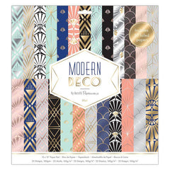 50 x Papermania Modern Deco 30.5cmx30.5cm Paper Pad 25 Different Designs Scrapbooking Crafts