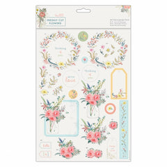 Papermania Freshly Cut Flowers A4 Die Cut Decoupage Sheets Printed Paper Pack Crafts