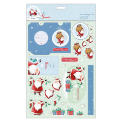Papermania At Home With Santa For You A4 Decoupage Pack Gift Decoration Crafts