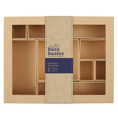 Papermania Bare Basics Landscape Shadow Box 28.5cmx22.3cmx5cm Brown Home Decorations