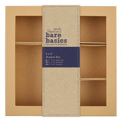 Papermania Bare Basics Shadow Box 20.3cm x 20.3cm Brown Square Shaped Home Decorations
