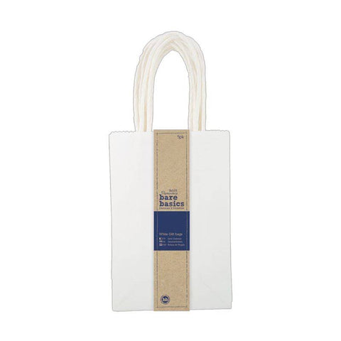 5 x Papermania Bare Basics Kraft Gift Small Bags With Twisted Handle 12cm x 18cm