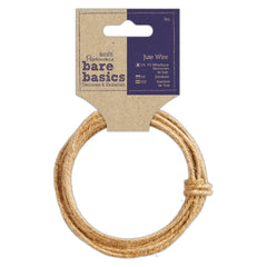 Papermania Bare Basics Jute Wire Brown Home Decoration Crafts Accessories 3m