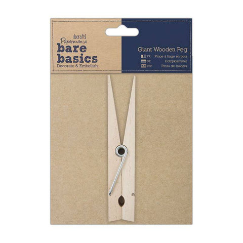 Papermania Bare Basics Giant Wooden Peg Decoupage Scrapbooking Decoration Crafts