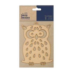 Papermania Bare Basics Owl Shaped Wooden Home Decoration Scrapbooking Crafts