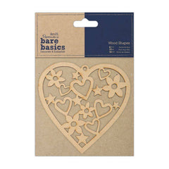 Papermania Bare Basics Heart Shaped Wooden Home Decoration Scrapbooking Crafts