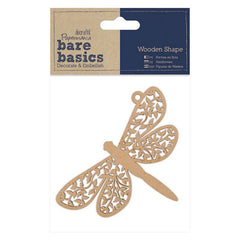 Papermania Bare Basics Dragonfly Shaped Wooden Home Decor Scrapbooking Crafts