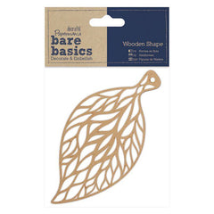Papermania Bare Basics Filigree Leaf Shaped Wooden Home Decor Scrapbooking Crafts