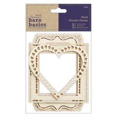 4 x Papermania Bare Basics Small Wooden Frames Different Size Photos Pictures Decoration Scrapbooking Crafts