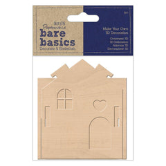 Papermania Bare Basics Make Your Own 3D Plywood House Wooden Decorations Crafts