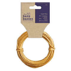 Papermania Bare Basics Craft Wire Brown Decoration Embellishment Accessories 10m