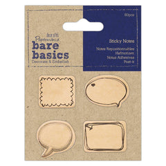 4 x Papermania Bare Basics Speech Bubble Shaped Sticky Notes Scrapbooking Crafts
