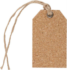 6 x Papermania Bare Basics Cork Gift Eyelet Tags With String Scrapbooking Crafts