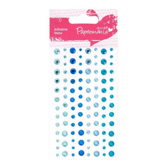 104 x Papermania Adhesive All Blue Stones Assorted Size Cardmaking Scrapbooking Crafts