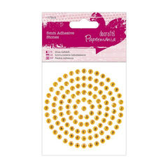 Papermania 5mm Golden Adhesive Stones Scrapbooking Jewellery Making Crafts