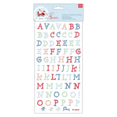 166 x Papermania Winter Woodland Alphabet Letters Thicker Adhesive Sticker Crafts