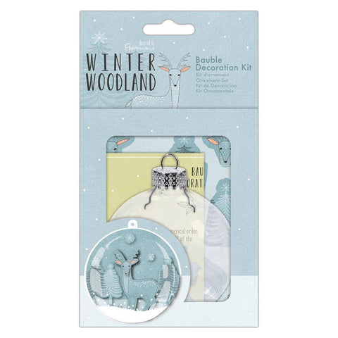 Papermania Winter Woodland Plastic Bauble Decoration Kit Christmas Hanging Crafts