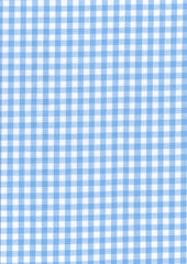 "Pale Blue Gingham Polycotton 1/4"" Checked Fabric Select Size 112cm Wide"