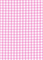 "Pink Gingham Polycotton 1/4"" Checked Fabric Select Size 112cm Wide"