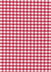 "Red Gingham Polycotton 1/4"" Checked Fabric Select Size 112cm Wide"