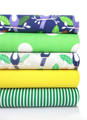Fabric Bundles Fat Quarters Polycotton Material Tropical Spots Children Craft