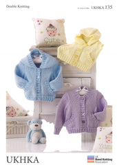 Double Knitting Pattern Jackets Waistcoat 0 To 1 years 31-51 cm 12-20 inches - Hobby & Crafts